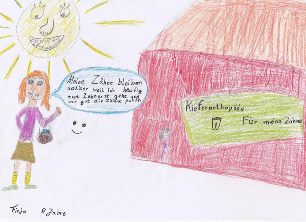 Kieferorthopaedie Aguero - Impressionen Kinderzeichnung Finja